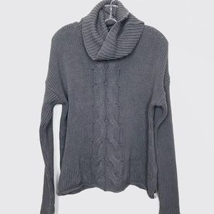 One Teaspoon Chunky Cable Knit Turtlene Sweater